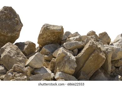 Big rocks isolated on white background
