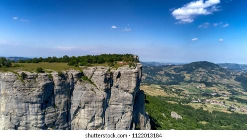 big rocky wall