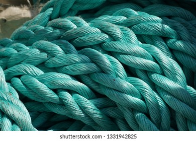 Big rope, green pattern, texture