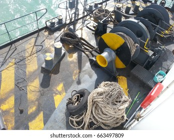 BIG ROPE MULLET ON FERRY BOAT FOR SEAPORT ANCHORAGE