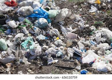 Big rubbish dump neare the road