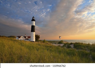 Big Sable Point Lighthouse. Image of the Big Sable Point Lighthouse, Michigan, USA.