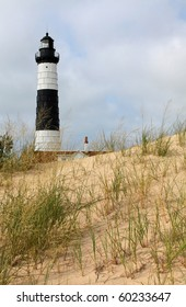 Big Sable Point Lighthouse located in Michigan, on Lake Michigan.