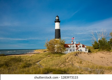 Big Sable Point Lighthouse on Lake Michigan, Mason County, Ludington, MI