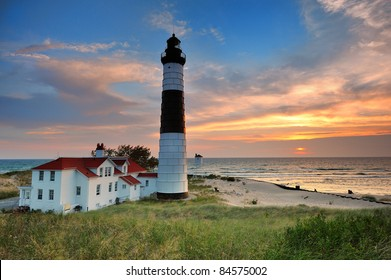 Big Sable Point Lighthouse sunset - Ludington , Michigan
