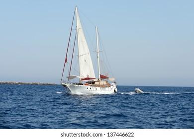 Big sailing yacht