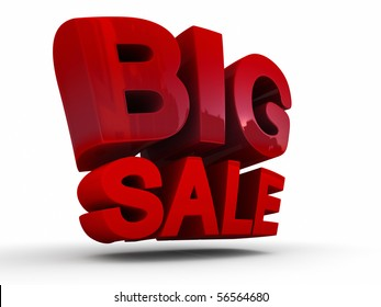big sale 3d isolated over white background. Special purchase. Deal of the day.