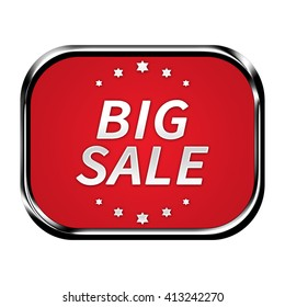 Big sale button isolated
