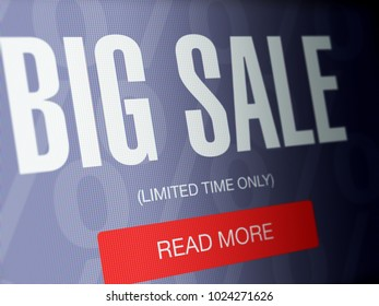 Big sale concept on a high resolution LCD screen.