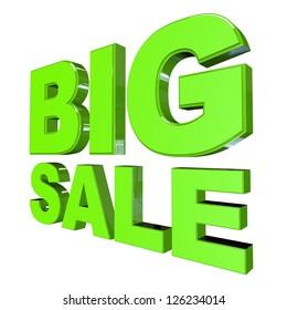 Big Sale on White Background