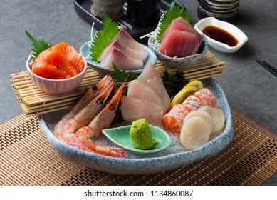 Big sashimi set - Japanese food