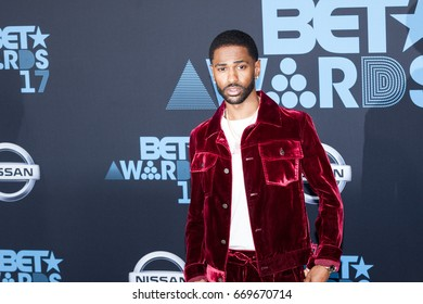 Big Sean attends the 2017 BET Awards at Microsoft Theater on June 25th, 2017 in Los Angeles, California - USA