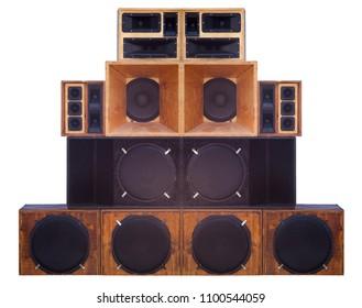big set of loudspeaker for a concert or music show studio