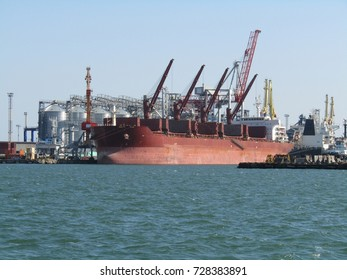 big ship in the port