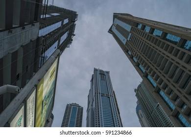 Big Skycrapers by Dubai Marina February 2017