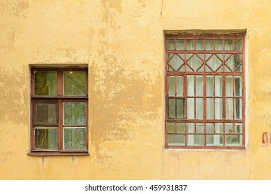 Big and small. The windows of the old house