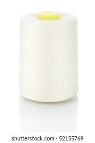 big spool of white thread