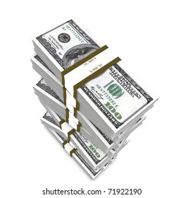 Big stack of dollars