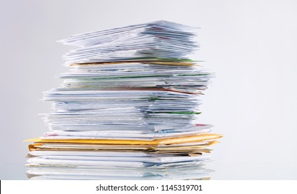 Big stack of mail, pile of paper