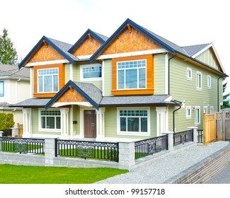 Big standard home in a residential neighborhood.  Vancouver, Canada