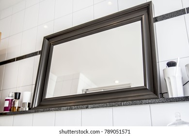 Big standing mirror in apartment