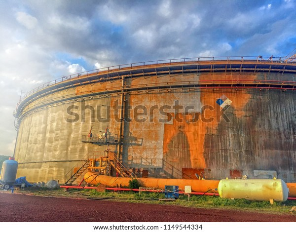 Big Storage Tank Floating Roof Tank Stock Photo (Edit Now