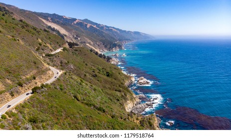 Big Sur, California from drone