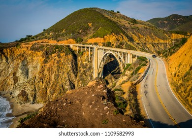 Big Sur California rugged scenic coast highway 1 along Pacific Ocean water rocks