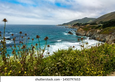 Big Sur, highway one, California, USA. Major north–south state highway that runs along most of the Pacific coastline of the U.S. state of California. At a total of over 659 miles.