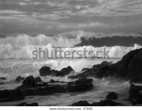Big Surf. Maui, Hawaii