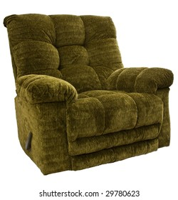 Big and Tall Sage Green Rocker Recliner Chair