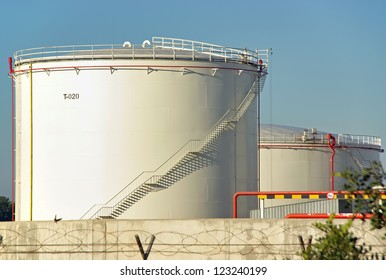 Big tank used to store fuel in a power plant