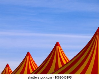 Big tent tops en yellow and red