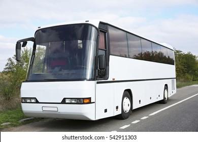 Big touristic bus outdoor