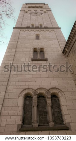 The big tower of a Church, Dusseldorf, Germany