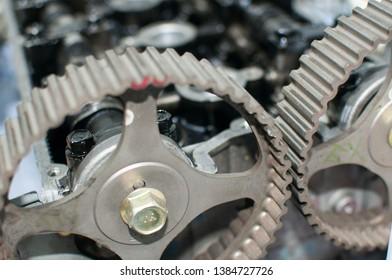 big transmission gears of sports car