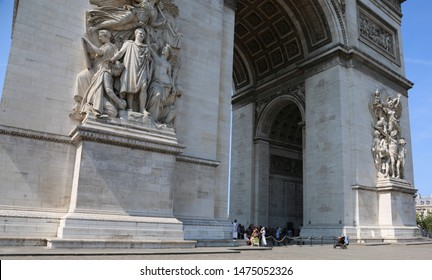 big Triumphal Arch in Paris France called Arc de Triomphe in french language