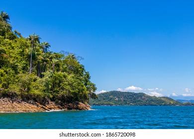 Die große tropische Insel Ilha Grande in Angra dos Reis, Rio de Janeiro, Brasilien.