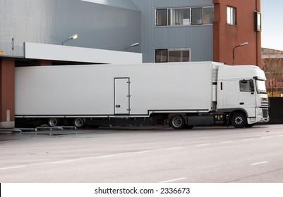 big truck at loading dock