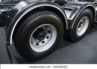 Big truck tire.