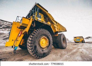 Big truck working in open pit.