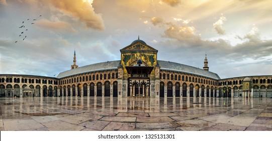 big umayyad Mosque of Damascus Syria -Syria 2017-7-6