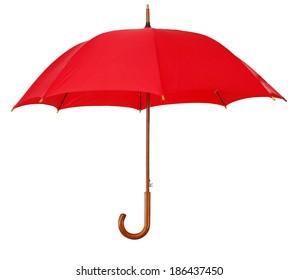 Big umbrella, isolated on white