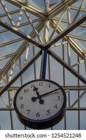 Big vintage clock in shopping mall, Noordwijk, Netherlands