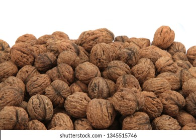 big wallnuts isolated on the white background