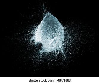 a big water balloon  bomb splash explosion