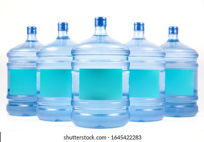 Big water bottle for delivery on white background