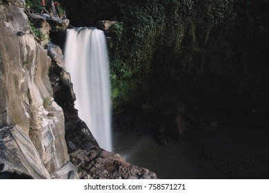 Big waterfall in green forest at summer. Bali, Indonesia