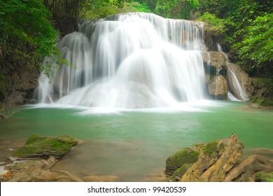 Big waterfall in Kanjanaburi Thailand