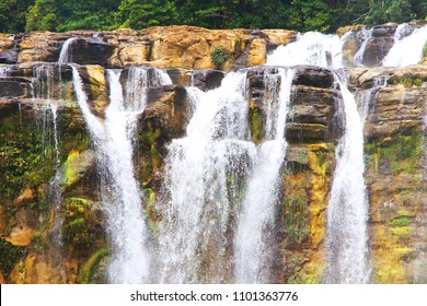 A big waterfall located in Mindanao, Philippines.